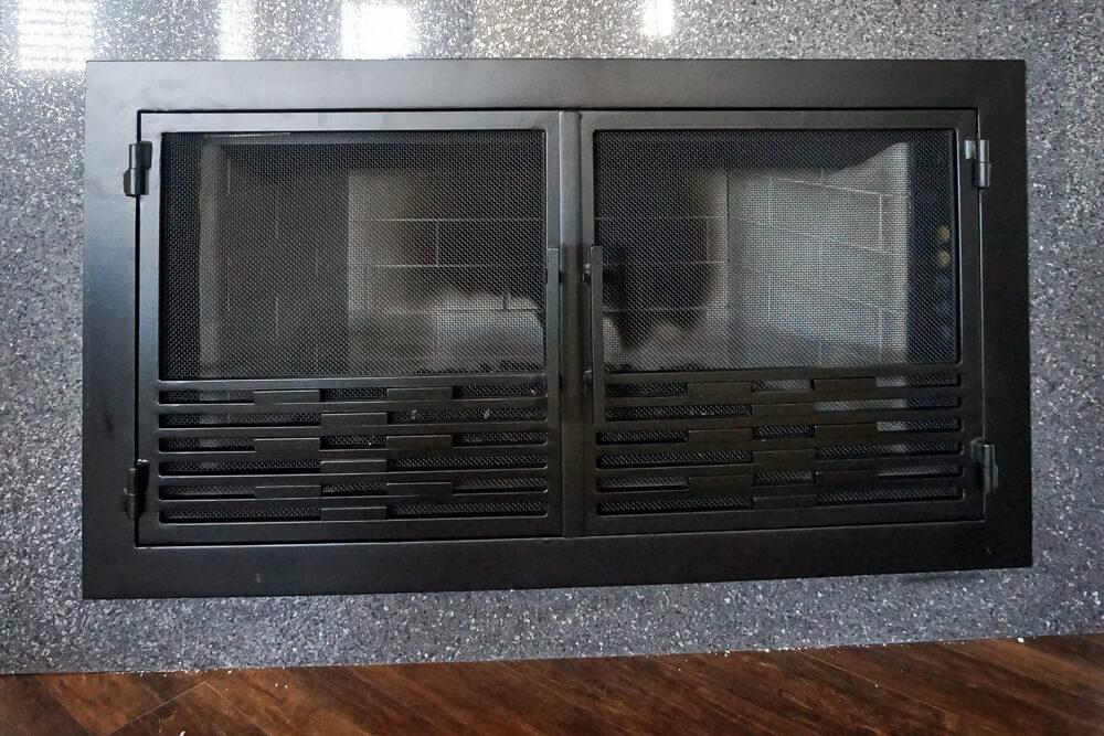 Modern Fireplace Custom Doors Fireplace Door Guy