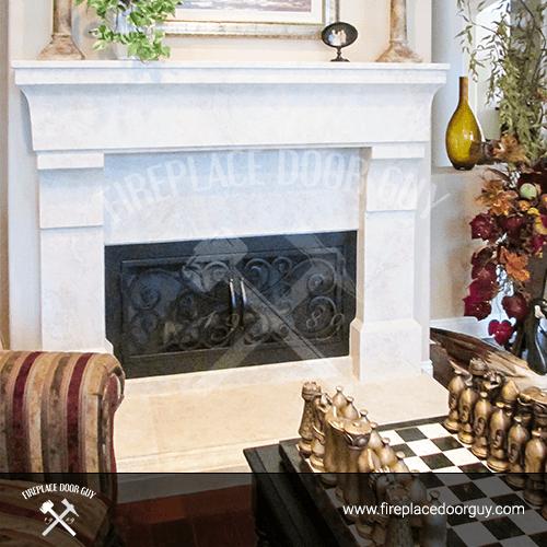 Rectangular Fireplace In Washington