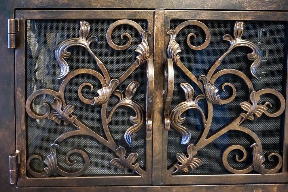 Fireplace Door fireplace door guy : L-Shape Custom Fireplace Doors   Fireplace Door Guy