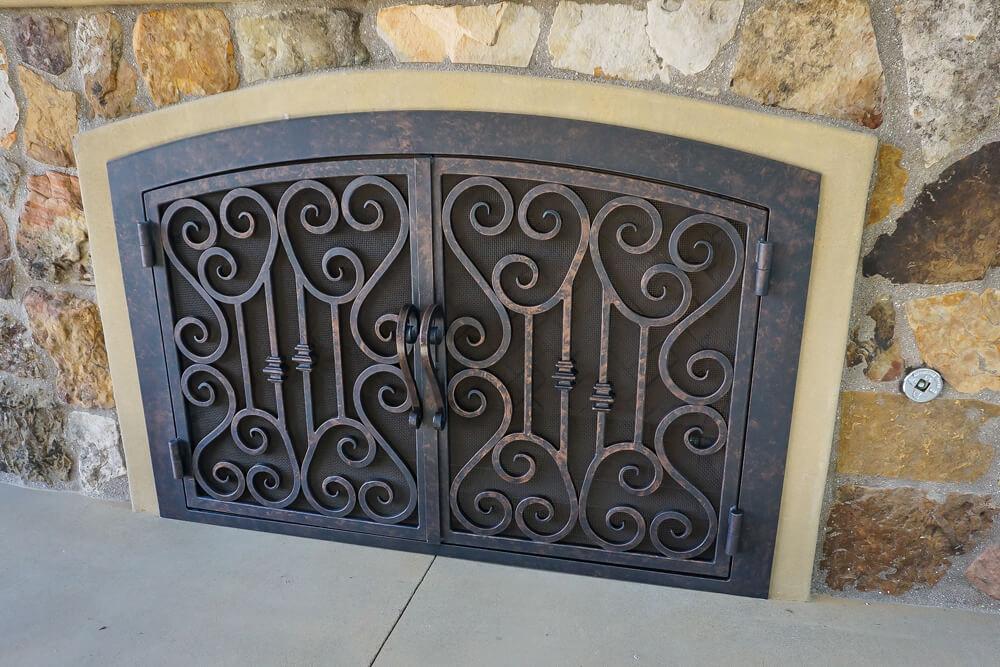 Arched Custom Fireplace Doors | Fireplace Door Guy