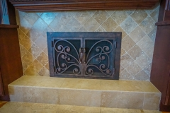 custom modern fireplace-12