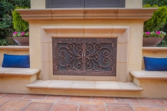 custom modern fireplace-3