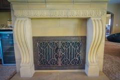 custom modern fireplace-5