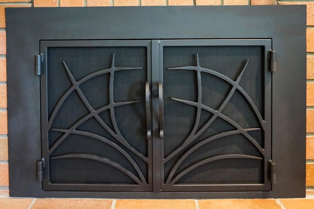 DSC00013 - Modern Fireplace Custom Doors Fireplace Door Guy