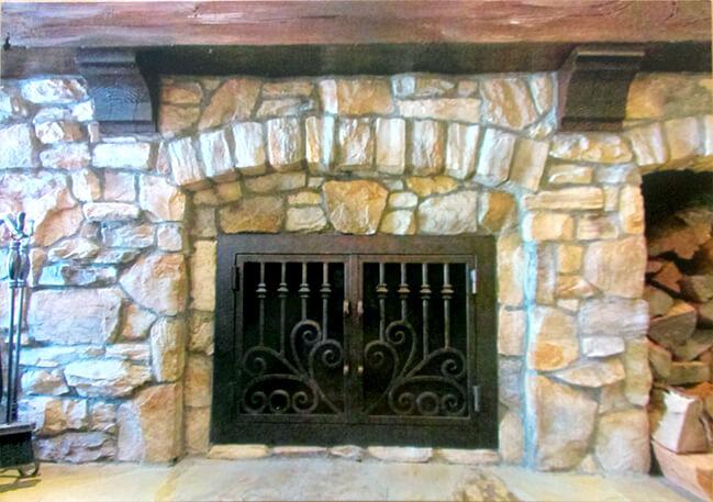 Stone Fireplace Doors Fireplace Door Guy