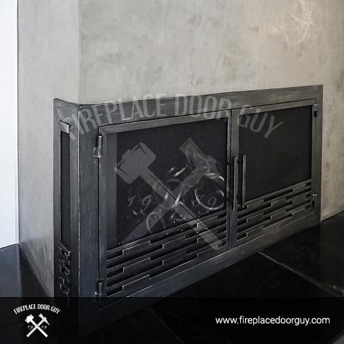 L Shape Fireplace In Anaheim, CA
