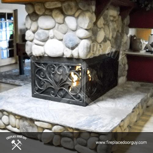 U-Shape Fireplace In Washington