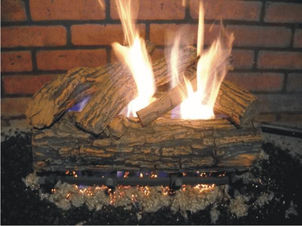 ceramic gas fireplace logs fireplace door