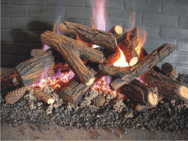 Ceramic Gas Fireplace Logs | Fireplace Door Guy