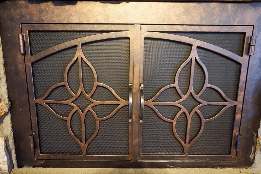 DSC00304 - Modern Fireplace Custom Doors Fireplace Door Guy