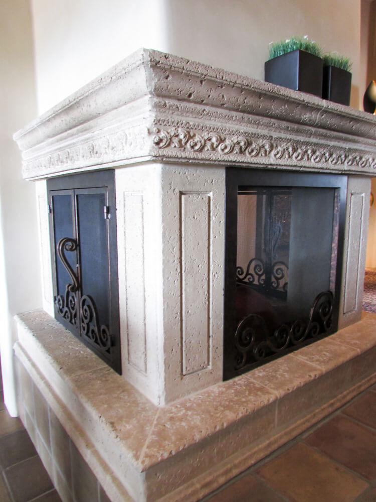 U Shaped Custom Fireplace Doors Fireplace Door Guy