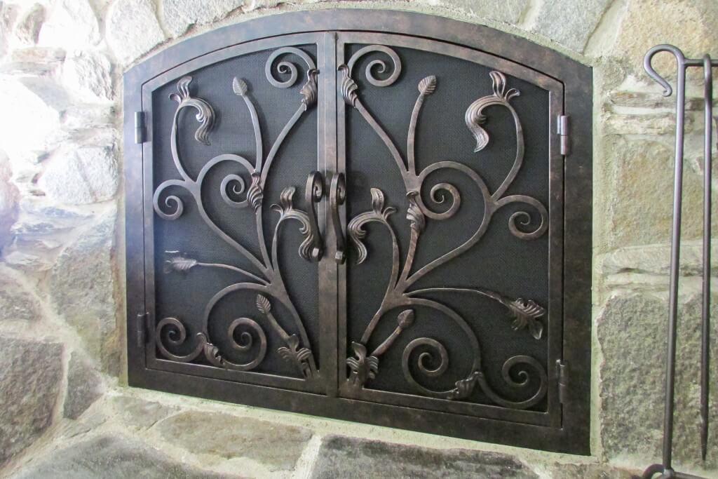 Arched Inside Rectangular Fireplace Doors | Fireplace Door Guy